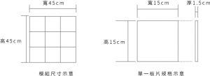 mini 小方磚產品規格